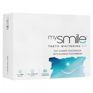 mysmile dag & nacht tandpasta met borstel
